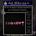 Superhero Coexist Decal Sticker Soft Pink Emblem 120x120