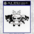 Supervillains Powerpuff Girls Decal Sticker Black Vinyl 120x120