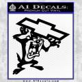 Taz Chevy Decal Sticker Black Tasmanian Devil Vinyl 120x120
