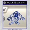 Taz Decal Sticker D1 Tasmanian Devil Blue Vinyl 120x120