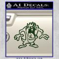 Taz Decal Sticker D1 Tasmanian Devil Dark Green Vinyl 120x120