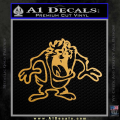 Taz Decal Sticker D1 Tasmanian Devil Gold Metallic Vinyl 120x120