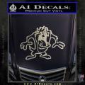 Taz Decal Sticker D1 Tasmanian Devil Metallic Silver Vinyl 120x120