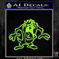 Taz Decal Sticker D1 Tasmanian Devil Neon Green Vinyl 120x120