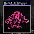 Taz Decal Sticker D1 Tasmanian Devil Neon Pink Vinyl 120x120