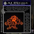 Taz Decal Sticker D1 Tasmanian Devil Orange Emblem 120x120