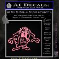 Taz Decal Sticker D1 Tasmanian Devil Soft Pink Emblem 120x120