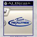Team Realtree Decal Sticker Blue Vinyl 120x120