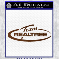 Team Realtree Decal Sticker Brown Vinyl 120x120