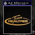 Team Realtree Decal Sticker Gold Metallic Vinyl 120x120