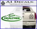 Team Realtree Decal Sticker Green Vinyl 120x97