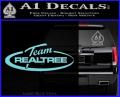 Team Realtree Decal Sticker Light Blue Vinyl 120x97