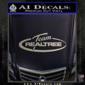 Team Realtree Decal Sticker Metallic Silver Vinyl 120x120