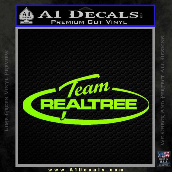 Team Realtree Decal Sticker Neon Green Vinyl