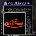 Team Realtree Decal Sticker Orange Emblem 120x120