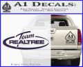 Team Realtree Decal Sticker Purple Vinyl 120x97