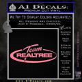 Team Realtree Decal Sticker Soft Pink Emblem 120x120