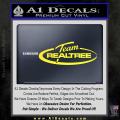 Team Realtree Decal Sticker Yellow Vinyl 120x120