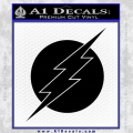 The Flash ALT Decal Sticker Black Vinyl 120x120