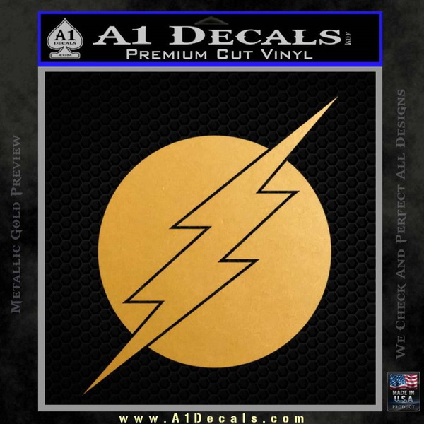 The Flash ALT Decal Sticker Gold Metallic Vinyl