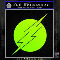 The Flash ALT Decal Sticker Neon Green Vinyl 120x120