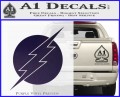 The Flash ALT Decal Sticker Purple Vinyl 120x97