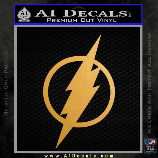 The Flash Decal Sticker DH Gold Metallic Vinyl