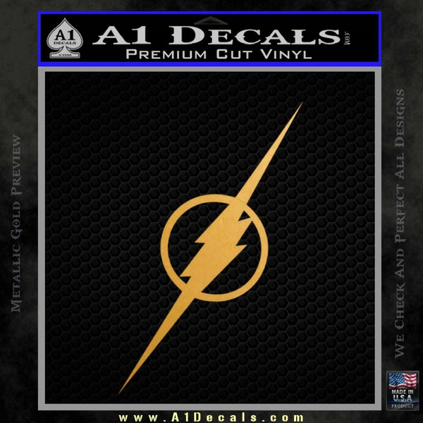 The Flash Decal Sticker Wide Gold Metallic Vinyl