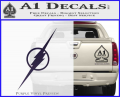 The Flash Decal Sticker Wide Purple Vinyl 120x97