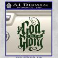 To God Be The Glory Decal Sticker Dark Green Vinyl 120x120