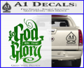 To God Be The Glory Decal Sticker Green Vinyl 120x97