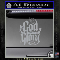 To God Be The Glory Decal Sticker Grey Vinyl 120x120
