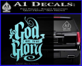To God Be The Glory Decal Sticker Light Blue Vinyl 120x97