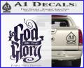 To God Be The Glory Decal Sticker Purple Vinyl 120x97