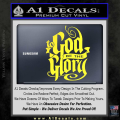 To God Be The Glory Decal Sticker Yellow Vinyl 120x120