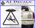 UFO Abduction Warning D1 Decal Sticker Carbon FIber Black Vinyl 120x97