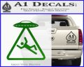 UFO Abduction Warning D1 Decal Sticker Green Vinyl Logo 120x97