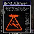 UFO Abduction Warning D1 Decal Sticker Orange Emblem 120x120