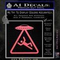 UFO Abduction Warning D1 Decal Sticker Pink Emblem 120x120