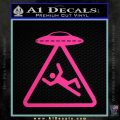 UFO Abduction Warning D1 Decal Sticker Pink Hot Vinyl 120x120