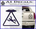 UFO Abduction Warning D1 Decal Sticker PurpleEmblem Logo 120x97