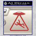 UFO Abduction Warning D1 Decal Sticker Red 120x120