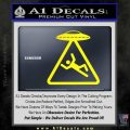 UFO Abduction Warning D1 Decal Sticker Yellow Laptop 120x120