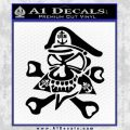 US Navy – Chief Decal Sticker Skull Black Vinyl 120x120
