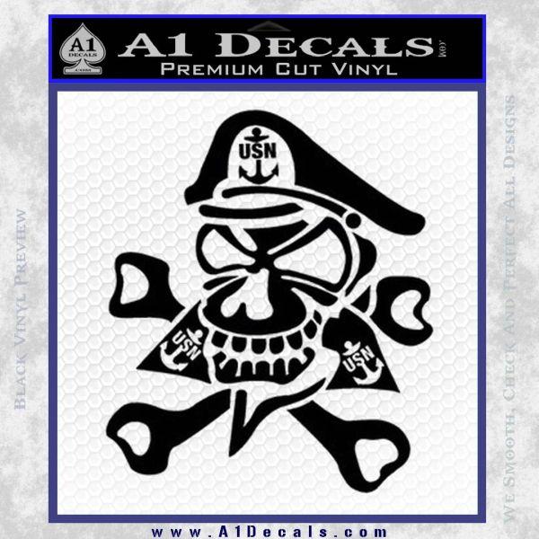 us navy � chief decal sticker skull 187 a1 decals