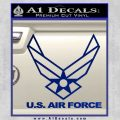 USAF Air Force Decal Sticker DH Blue Vinyl 120x120