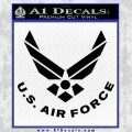 USAF Air Force Decal Sticker DS Black Vinyl 120x120