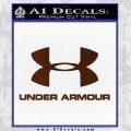 Under Armor Decal Sticker Full BROWN Vinyl 120x120