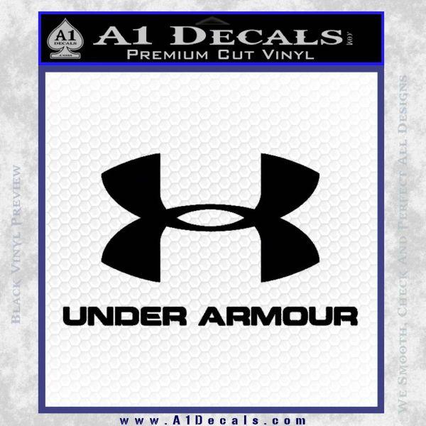 Under Armor Decal Sticker Full Black Vinyl