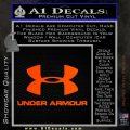 Under Armor Decal Sticker Full Orange Emblem 120x120